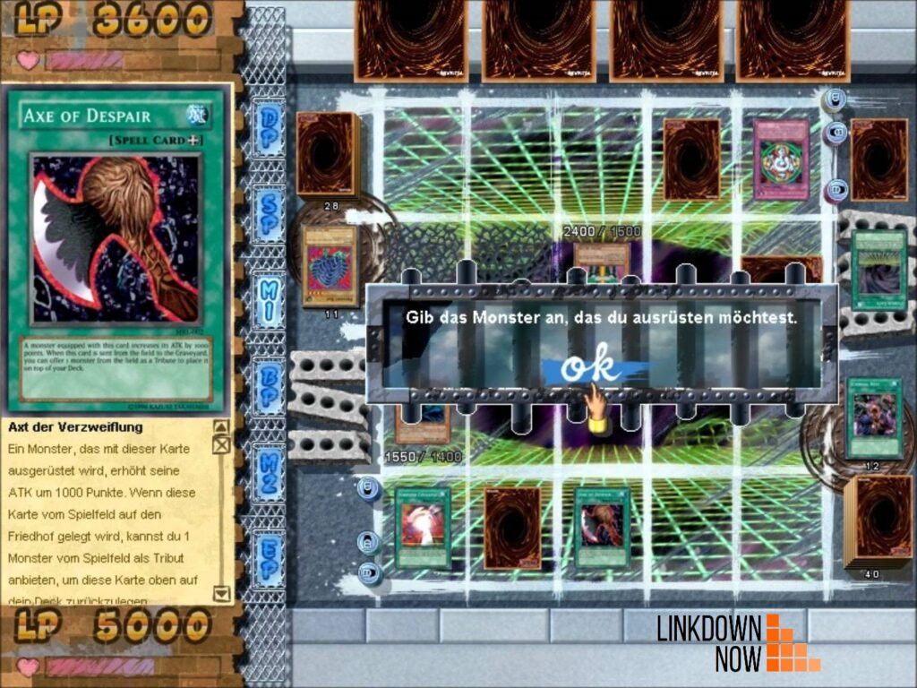 giao diện đánh bài Yugi