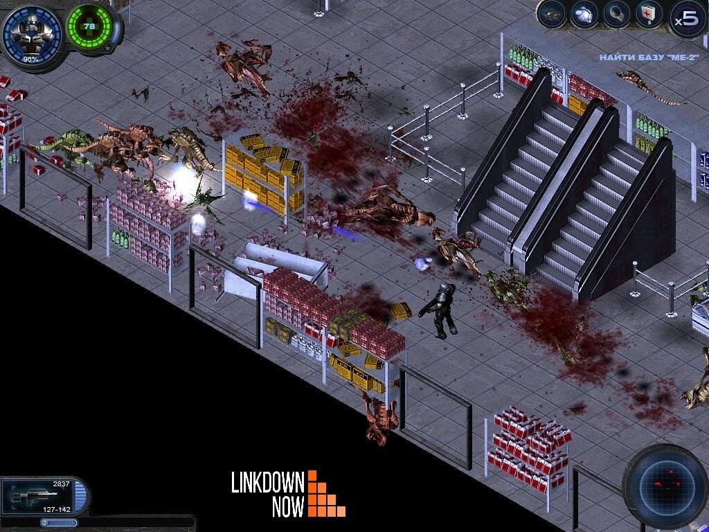 Người chơi nhập vai người lính bắn quái trong game Alien Shooter