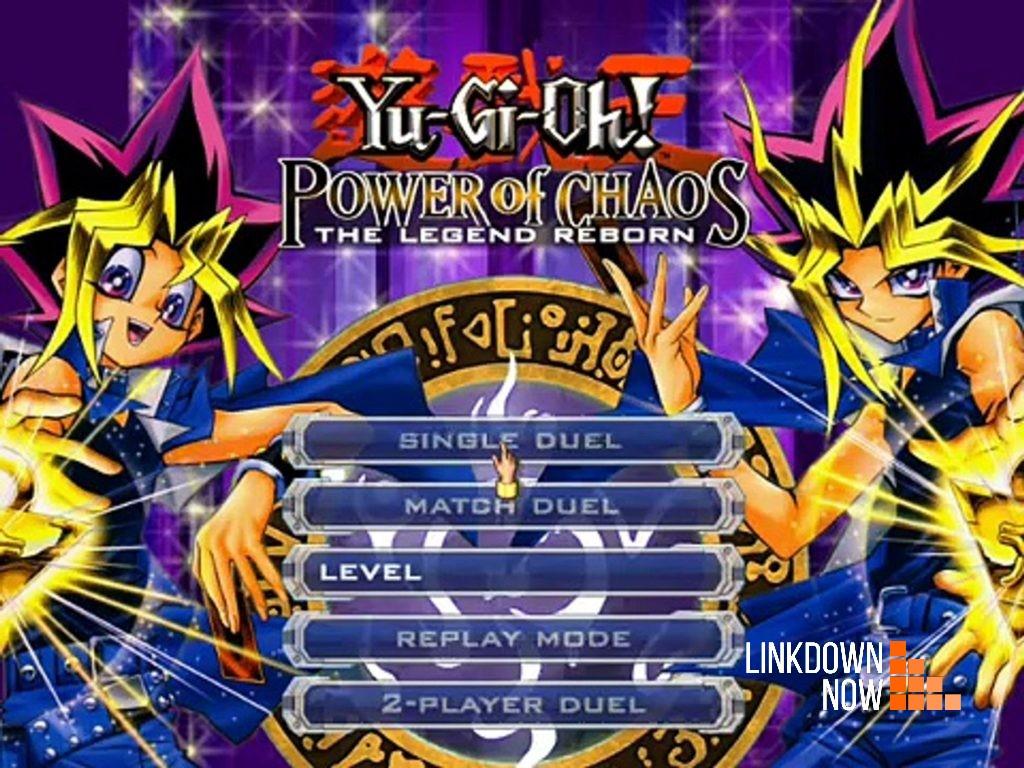 giao diện khi vào game Yugioh The Legend Reborn