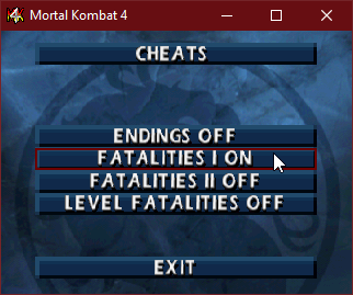 Cheats Mortal Kombat 4
