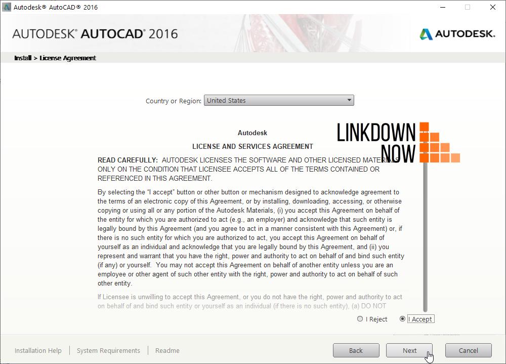 Install AutoCAD 2016