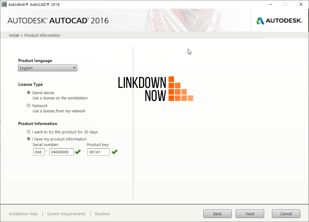 AutoCAD 2016 Serial number và product key