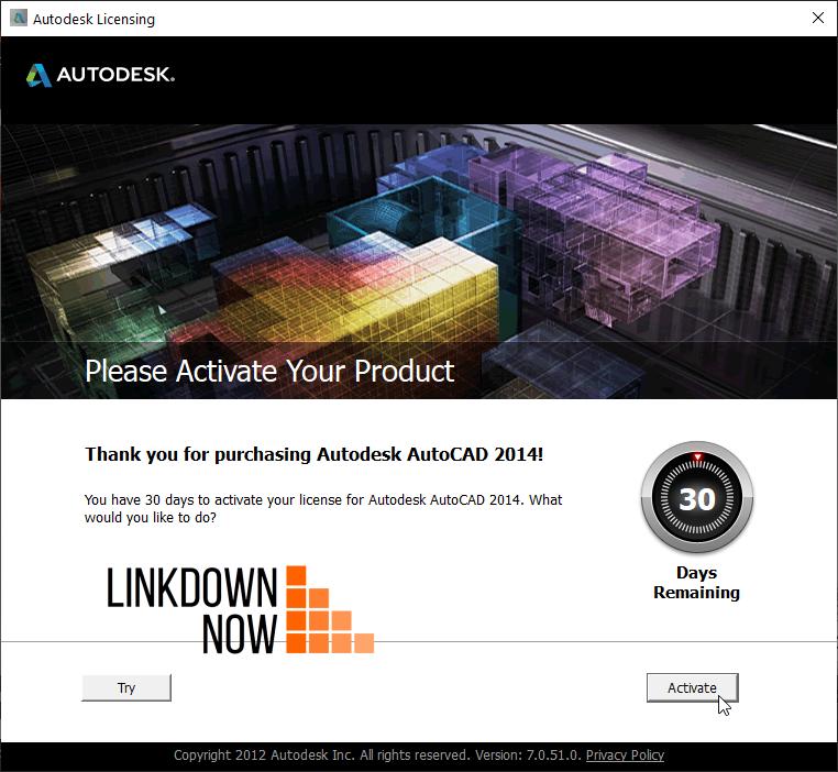 Activate AutoCAD 2014
