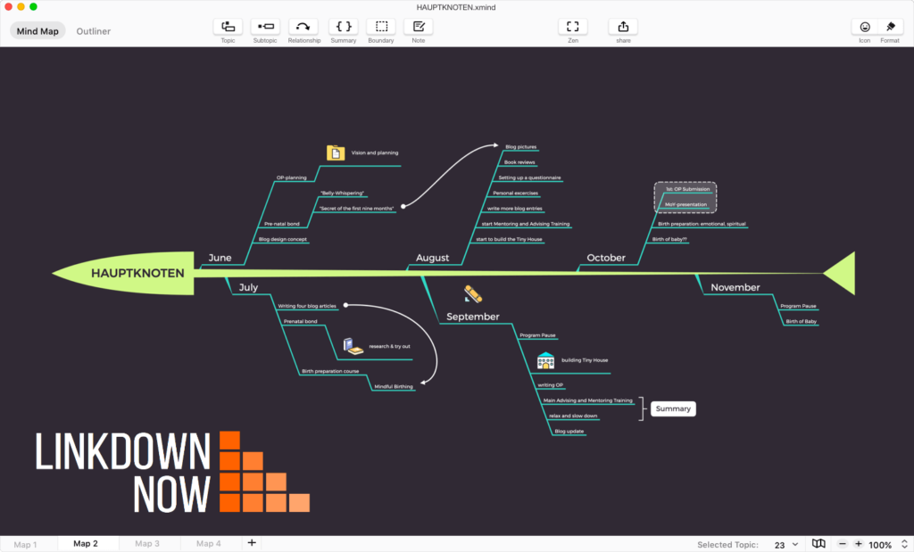 Giao diện phần mềm XMind ZEN 2020