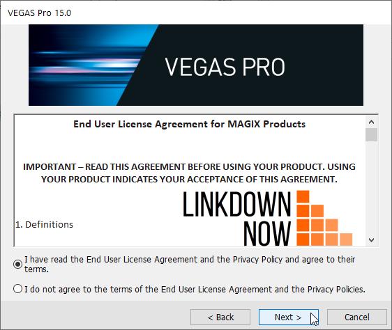 Cài đặt Magix Vegas Pro 15