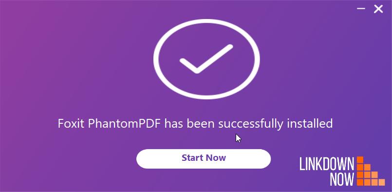 cài đặt PhantomPDF thành công