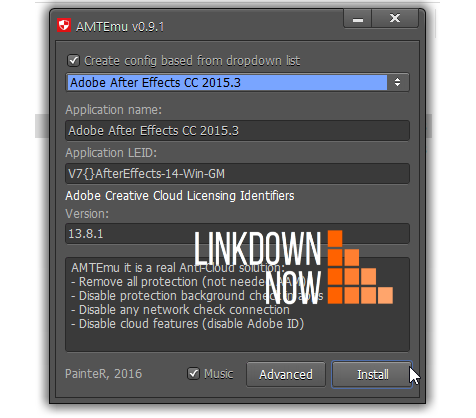 AMTEmu Crack Adobe After Effects 2017