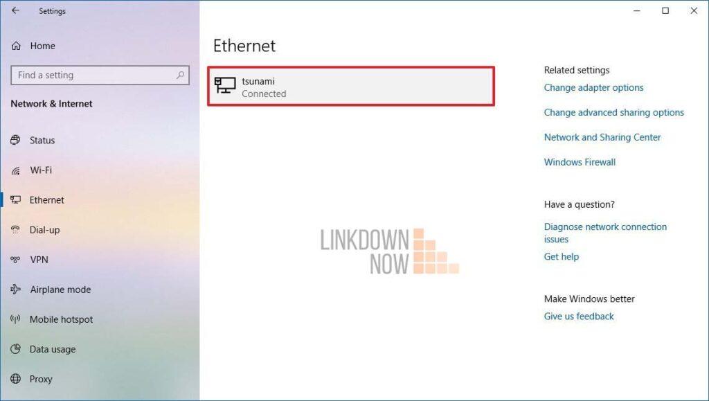 Gán địa chỉ IP tĩnh cho bộ điều hợp Ethernet