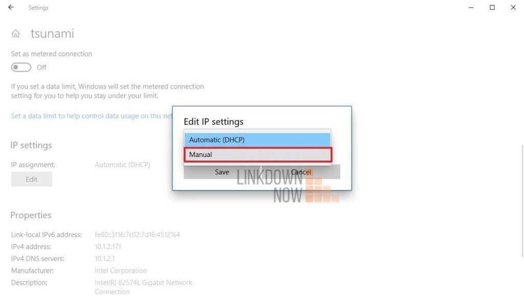 Thay đổi địa chỉ IP đơn giản
