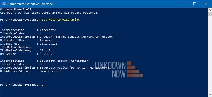 Thay đổi IP tĩnh với PowerShell