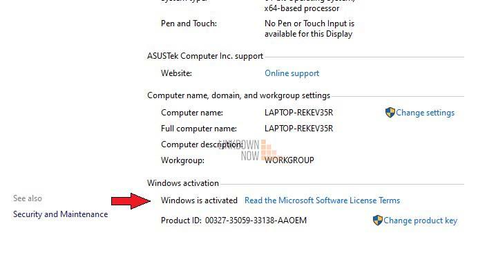 Kiểm tra Windows 10 là chính hãng thông qua This PC