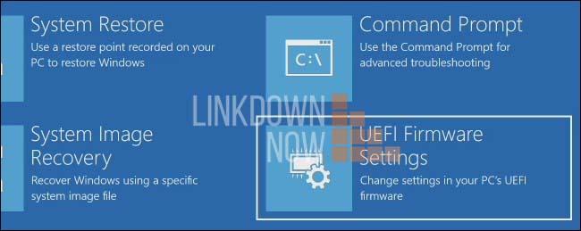 Vào Advanced option và chọn UEFI firmware settings