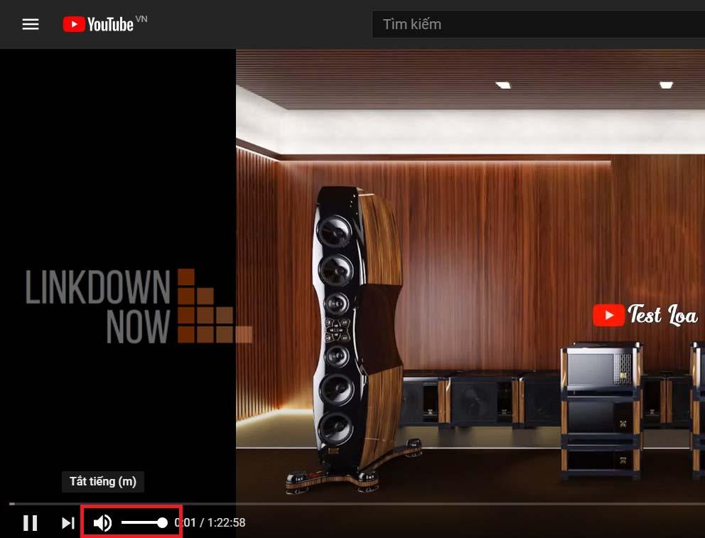 Điều chỉnh thanh âm lượng trên các trang video