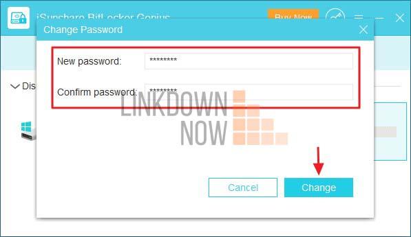 Đặt mật khẩu BitLocker mới và nhập lại để xác nhận