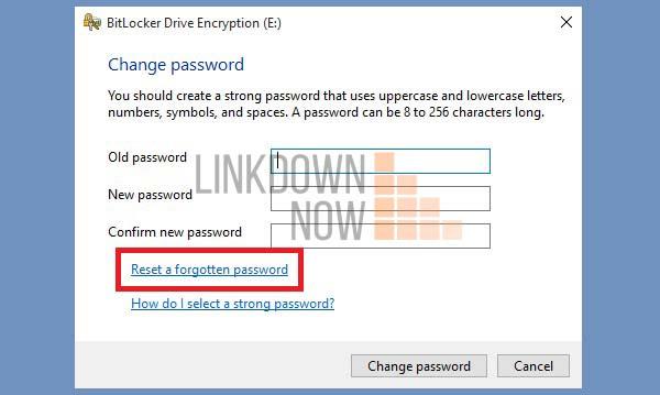 Nhấn nút Reset a forgotten password