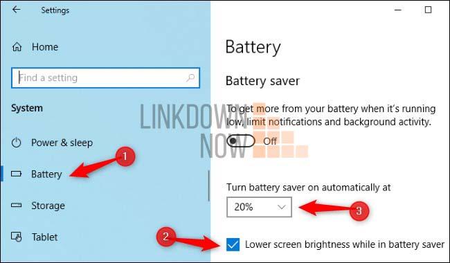 Cách tự động điều chỉnh độ sáng dựa trên thời lượng pin còn lại