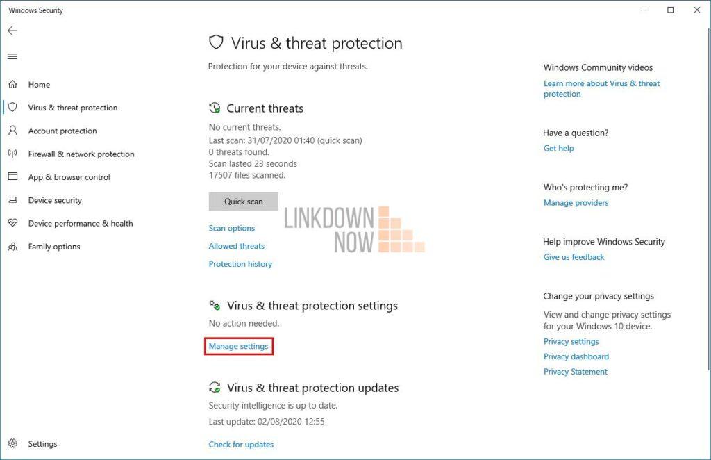 Tắt Windows Defender tạm thời