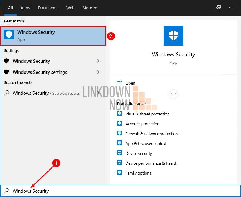 Kiểm tra trạng thái Windows Defender trong Windows Security