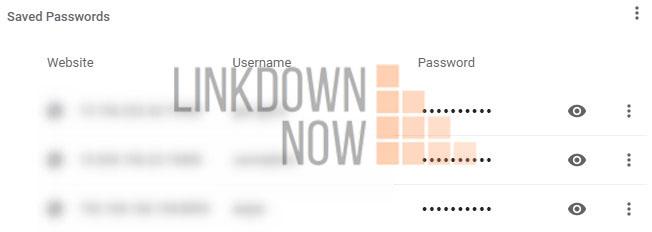 Hiển thị mật khẩu đã lưu